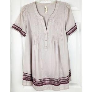 Anthropologie floreat top size 8